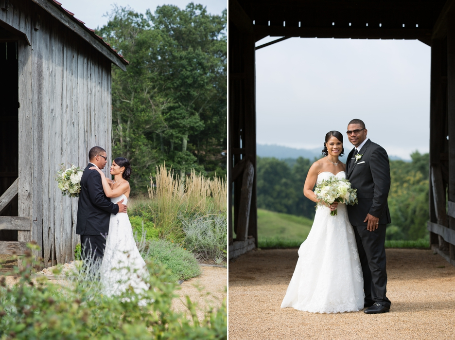 early mountain vineyard wedding
