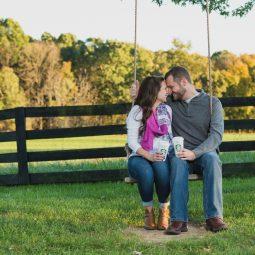 Red August Farm Engagement Session   Va Wedding Photographer   Jordan+David